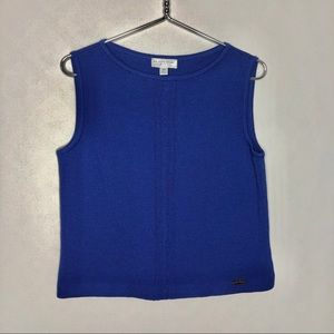 St. John Sport Knit Shell Tank Cable Twist